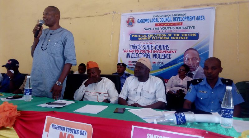 Shun electoral violence; Ojokoro council boss advises youths