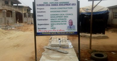 DEVELOPMENT: OJOKORO COUNCIL BOSS CONSTRUCTS SHODEHINDE'S DRAINAGE